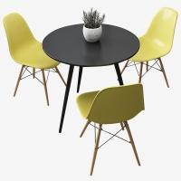A.O.史密斯定制款 CD展厅洽谈桌一桌三椅套装611+615