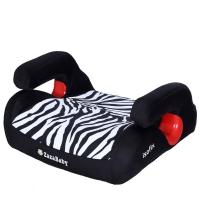 Zazababy儿童4-12岁汽车安全增高坐垫带isofix硬接口车载便携简易增高垫 2030Plus 斑马纹