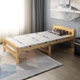 中伟折叠床单人床成人实木床经济型简易床镂空式床头1950*1000*400