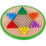 得力(deli) 6731 学生/儿童益智早教玩具 木质五合一跳棋飞行棋五子棋