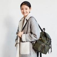 京東京造 尼龍雙肩包女背包時尚拼接 軍旅綠
