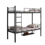 金经金属上下床学生高低床双层床员工宿舍床公寓床铁床BS-01加鞋架