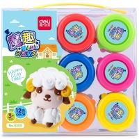 得力(deli)6455 魔趣超轻粘土套装 12色杯装手工DIY彩泥玩具