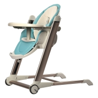 babycare兒童餐椅 便攜式可折疊嬰兒餐椅多功能寶寶餐椅 8900蘇卡藍
