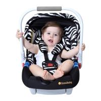 英国zazababy婴儿安全提篮汽车安全座椅新生儿0-12个月 斑马纹豪华版