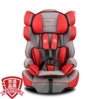 路途乐(Lutule) 汽车儿童安全座椅isofix软连接 3C/ECE 适合约9月-12岁宝宝座椅 熊A 活泼红