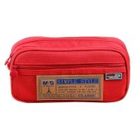 晨光(M&G)文具紅色大號多層筆袋 多功能文具盒鉛筆盒 學生文具收納袋 單個裝APB93598
