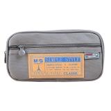 晨光(M&G)文具灰色多功能多层大号笔袋文具盒铅笔收纳袋 单个装APB93598