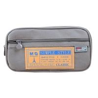 晨光(M&G)文具灰色大號多層筆袋 多功能文具盒鉛筆盒 學生文具收納袋 單個裝APB93598