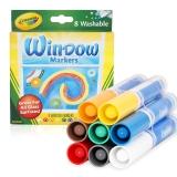 绘儿乐 Crayola 8色可水洗橱窗装饰专用水彩笔 58-8165