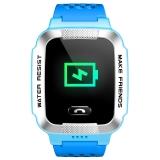 小天才兒童電話手表Y01A超長待機360度防水GPS定位智能手表 移動2G學生兒童手表手機 男女孩淺藍