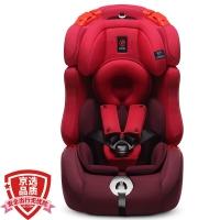 感恩ganen 宝宝汽车儿童安全座椅isofix硬接口 护航者 红色 9个月-12岁