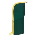 国誉(KOKUYO)日本进口NEO CRITZ便携式笔袋/铅笔袋/文具袋/收纳袋 墨绿+黄色 F-VBF130-3