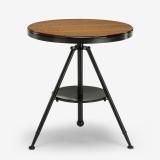 多瓦娜 茶几 可旋转沙发边几 美式铁艺小边桌DWN-B005