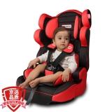 路途乐(Lutule) 汽车儿童安全座椅isofix软连接 3C/ECE 适合约9月-12岁宝宝座椅 熊A 酷酷黑