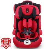 感恩(ganen)宝宝汽车儿童安全座椅阿瑞斯 钢骨架汽车isofix硬接口 9个月-12岁 红黑色