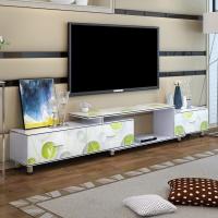 酷林(KULIN)电视柜 简约现代可伸缩电视柜时尚客厅茶几电视柜烤瓷组合