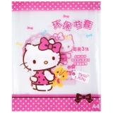 廣博(GuangBo) A4透明書套書皮 (3張/包) 學習用品 6包 凱蒂貓KT86137