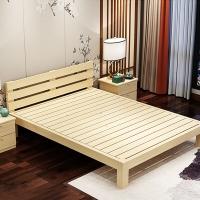 欧宝美木单人床双人床公寓床实木床1.5米宽