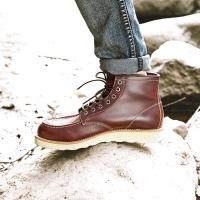 京东京造 马丁靴男靴高帮透气 头层牛皮 棕红色 39