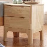 中伟实木柜床头柜卧室家具原木色欧式柜子简约风格小型床头柜收纳柜