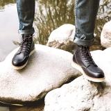京东京造 马丁靴男靴高帮透气 头层牛皮 深棕色 40