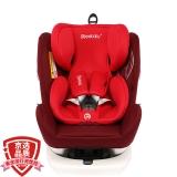瑞贝乐reebaby360度旋转汽车儿童安全座椅ISOFIX接口 0-4-6-12岁婴儿宝宝新生儿可躺 REEBABY 波多尔红