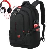 SWISSGEAR电脑包  瑞士双肩包 男士背包14.6-15.6英寸笔记本包出差旅行包SA-9393III黑色学生书包