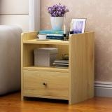 木以成居 床头柜 简约带抽屉茶几收纳柜储物型简易斗柜 原木色边桌子LY-3066