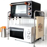 吉睿 储物/置物架 不锈钢58CM单层台面厨房微波炉置物架 JR3055 厨房卫浴置物收纳架