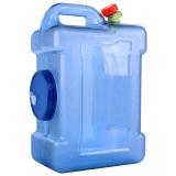 拜杰(Baijie)纯净水桶矿泉水桶方形带龙头饮用茶台吧机水桶自驾游?#30164;?#25143;外 12L