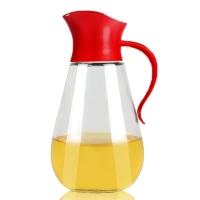 SIMELO(施美樂)首爾風情調料瓶自開啟防漏油壺550ML(紅色)