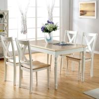 生活诚品 进口实木餐桌椅套装 餐桌椅组合 一桌四椅 SMD13085