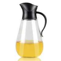 SIMELO(施美乐)首尔风情调料瓶自开启防漏油壶550ML(黑色)