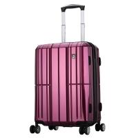 愛華仕(OIWAS)PC拉桿箱6176 時尚萬向輪行李箱 飛機輪旅行箱男女出差登機箱 20英寸紫色