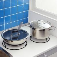 歐潤哲 鍋架 加粗線徑雙用鍋具置物架 大小號套裝