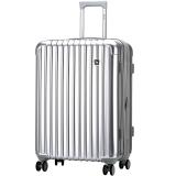 爱华仕(OIWAS)ABS+PC 配色飞机轮拉杆箱 扩展层行李箱包24英寸硬箱 男女旅行箱6229 银色