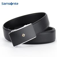 Samsonite/新秀丽男士皮带自动扣进口牛皮腰带商务休闲裤腰带TK2*09002 黑色 120CM