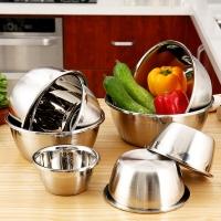 歐潤哲 盆子 加厚不銹鋼多功能盆沙拉盆料理盆洗菜盆湯盆打蛋盆 8件套
