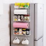 歐潤哲 置物架 多功能大容量冰箱側壁掛架免釘吸盤式無痕收納架 櫥柜側廚具調料瓶杯子雜物整理架 經典版
