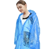 欣沁 一次性雨衣 四合扣加厚6丝雨披 户外登山旅行一次性雨披男女雨具可重复使用 2个装 蓝色