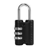 卡拉羊密码锁旅游必备行李箱锁防盗迷你挂锁男女出差多功能旅行用品背包拉杆箱锁CX0002黑色