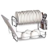 歐橡OAK 碗碟架 雙層瀝水碗碟筷子收納架廚房置物架 C006