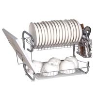 欧橡 OAK 厨房置物架 双层沥水碗碟架刀架砧板架带筷子筒厨房用品收纳架刀筷架 OX-C006