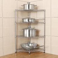 朝暮之家廚房置物架落地層架收納儲物廚房用品整理架三角架鍋架子ZM3346B