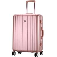 愛華仕(OIWAS)飛機輪拉桿箱6193 鋁框海關密碼鎖行李箱 商務出差旅行硬箱 20英寸玫瑰金