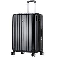 爱华仕(OIWAS)飞机轮密码锁拉杆箱6182 商务出差旅行箱 行李箱男女大容量24英寸黑色