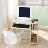 慧乐家 电脑桌 简约弧形多功能书桌 学习桌 白枫木色14098