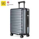 90分拉桿箱20英寸  德國拜爾PC材質登機箱靜音萬向輪行李箱 商旅兩用旅行箱 100903鈦金灰