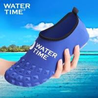 WaterTime蛙咚 潛水鞋 襪 男女成人速干透氣多功能防滑浮潛鞋沙灘潛水鞋 寶藍色L